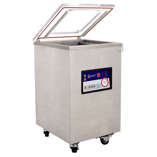"""Omcan - Floor Model Heavy-Duty Vacuum Packaging Machine With 1.47 Hp And 19"""" Double Seal Bar - 31824"""