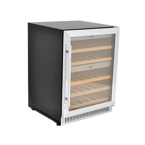 Omcan - Dual Zone Wine Cooler With 40 Bottle Capacity And Stainless Steel Door - 45260