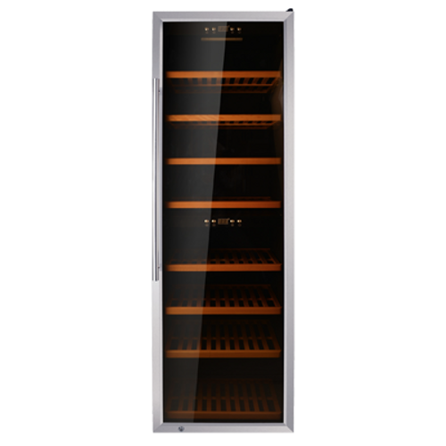 Omcan - Dual Zone Wine Cooler With 181 Bottle Capacity And Stainless Steel Door - 45258