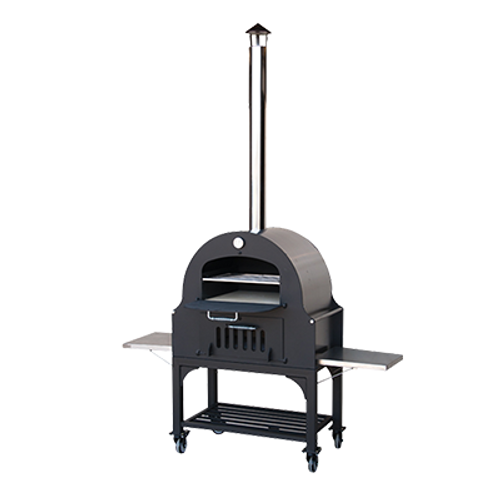 """Omcan - 34"""" Outdoor Wood Burning Oven With Stainless Steel Oven Shelf - 31312"""