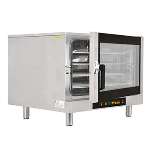 Omcan - Countertop Electric Convection Oven With 4 Shelves Capacity And Steam Injection With 10 Positions Digital Switch - 43324