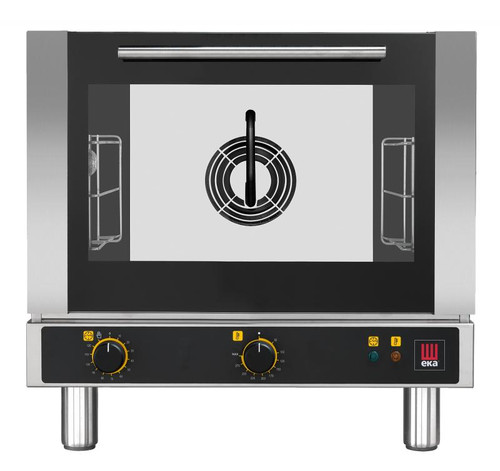Omcan - Countertop Electric Convection Oven With 3 Shelves Capacity And Electromechanical Version With Push Button Steam Injection - 43316