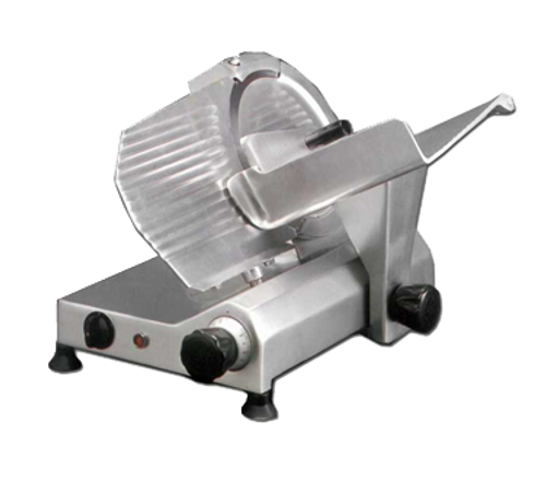 """Omcan - 11"""" Belt-Driven Meat Slicer With 0.35 Hp Motor - 13625"""