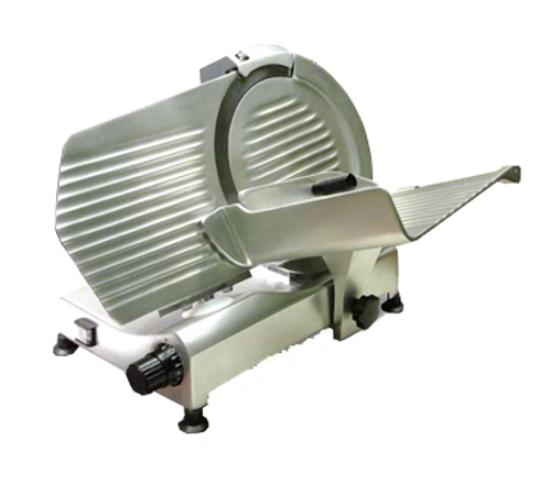 """Omcan - 12"""" Belt-Driven Meat Slicer With 0.35 Hp Motor - 21624"""