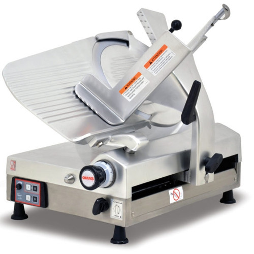 """Omcan - 13"""" Blade Gear-Driven Auomatic Slicer - 13645"""