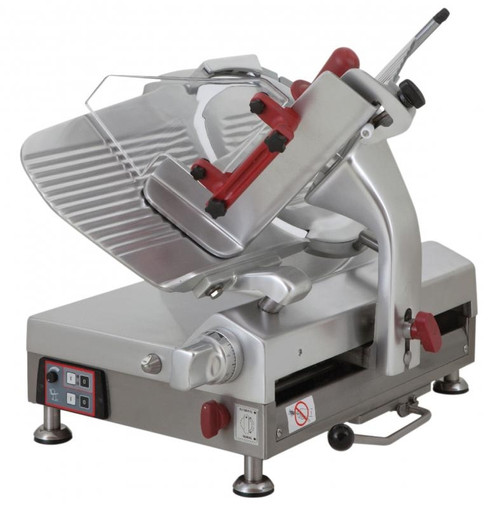 """Omcan - 13"""" Blade Gear-Driven Automatic Slicer - 39477"""