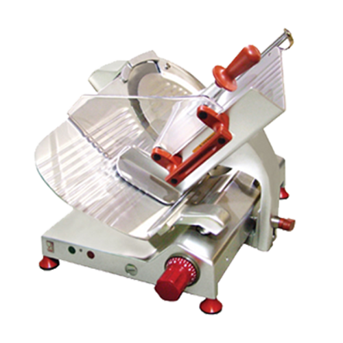 """Omcan - 13"""" Gear-Driven Slicer With 0.47 Hp Motor - 31438"""