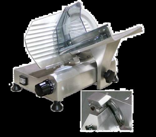 "Omcan - 8"" Belt-Driven Slicer With Fixed Blade Sharpener - 13607"