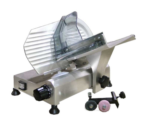 "Omcan - 8"" Belt-Driven Slicer With Removable Blade Sharpener - 13606"