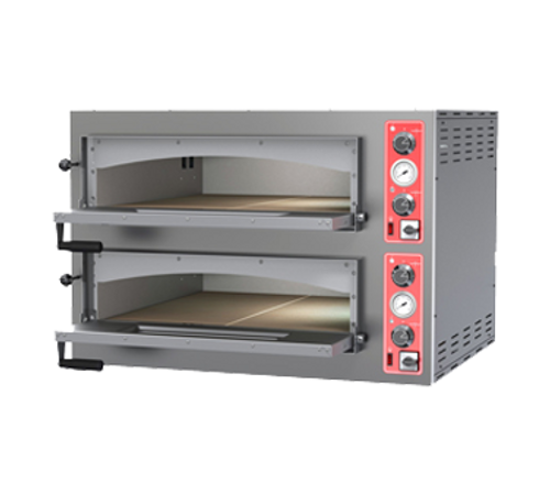Omcan - Double Chamber Pizza Oven Entry Max Series With 11.2 Kw Power - 40636