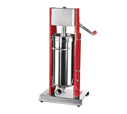 Omcan - Elite Series Vertical Two-Speed Gear-Driven Manual Sausage Stuffer With 15 Lb. Capacity - 38000