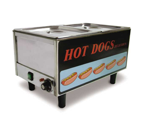 Omcan - Stainless Steel Hotdog Steamer And Bun Warmer - 17133