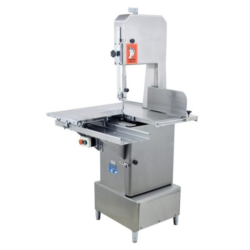 """Omcan - Stainless Steel Floor Band Saw With 98"""" Blade Length And 2 Hp Motor - 45978"""