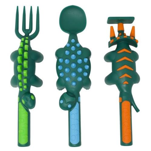 Constructive Eating - Set of 3 Dino Utensils - 83000