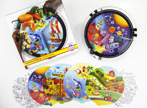 Constructive Eating - Activity Plate - 26000