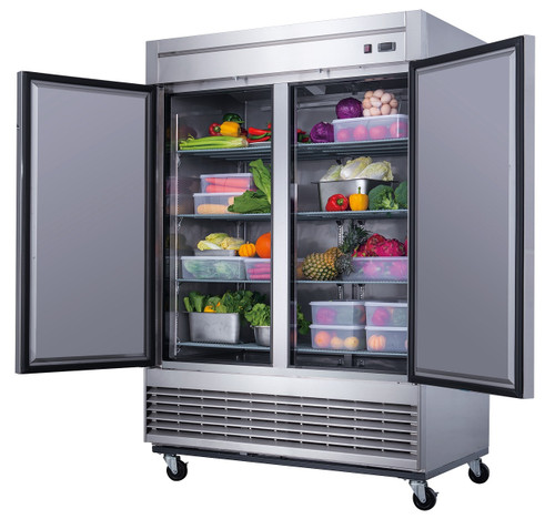 Williams Food Equipment - 2 Door Stainless Steel Refrigerator - NSR-115-H