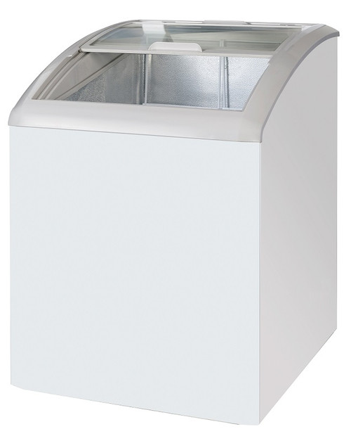 "Williams Food Equipment - 24"" Curved Glass Ice Cream Freezer  - NIF-24-CG"