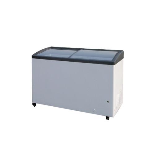 "Williams Food Equipment - 32"" Curved Glass Ice Cream Freezer - NIF-32-CG"