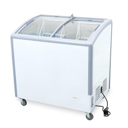 "Williams Food Equipment - 35"" Curved Glass Ice Cream Freezer - NIF-35-CG"