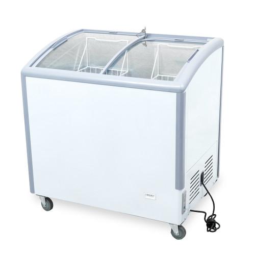 "Williams Food Equipment - 35"" Curved Glass Ice Cream Freezer - NIF-35-CG"