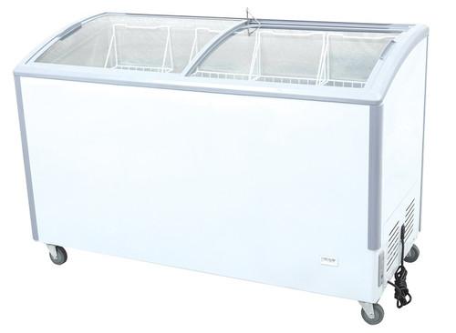 "Williams Food Equipment - 55"" Curved Glass Ice Cream Freezer - NIF-55-CG"