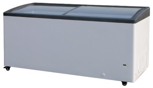 "Williams Food Equipment - 61"" Curved Glass Ice Cream Freezer - NIF-61-CG"