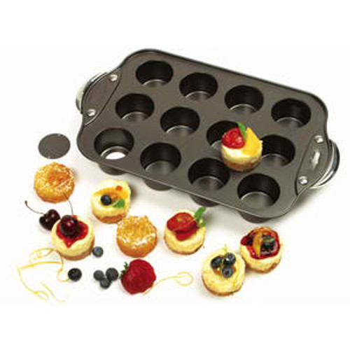 Norpro - 12 Mini Cheesecake Pan With Stainless Steel Handles - 3919