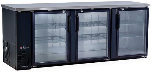 Williams Food Equipment - 3 Glass Door Back Bar - NBB-90-SG