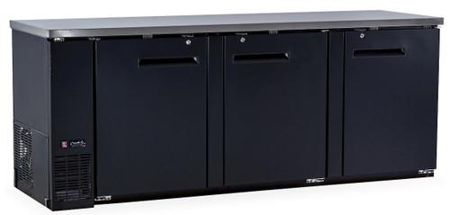 Williams Food Equipment - 3 Solid Door Back Bar - NBB-90-SB