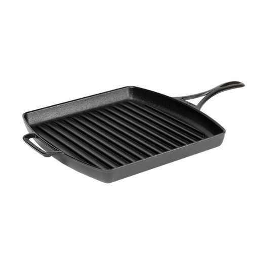 "Lodge - Black Lock 12"" Cast Iron Square Grill Pan - BL65GP"