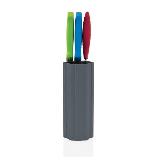 Kapoosh - Slate Grey Tall Hex-Connex Knife Block - 1101424T