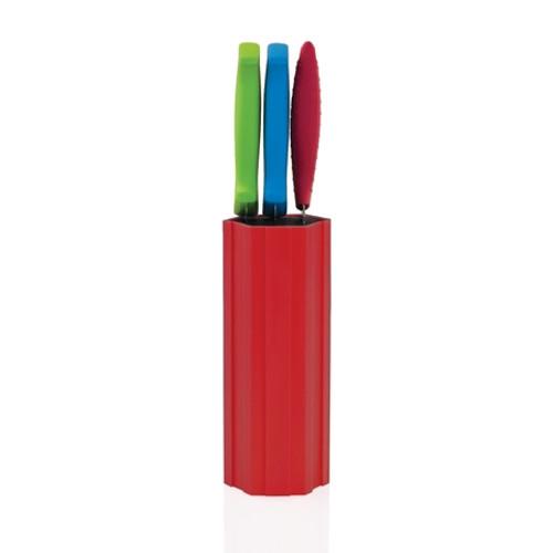 Kapoosh - Red Tall Hex-Connex Knife Block - 1101424T