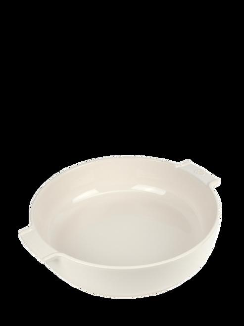 "Peugeot - Appolia Ecru 13.4"" Round Ceramic Baker - 60244"