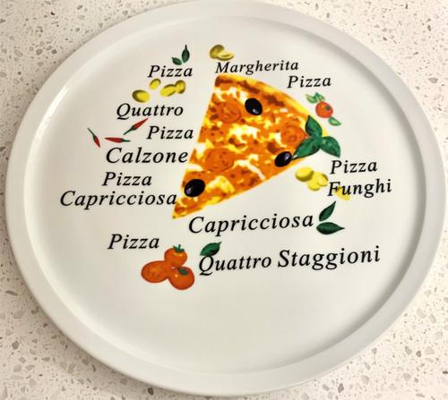 "Adamo - 12"" Pizza Mista Pizza Plate - 0735"