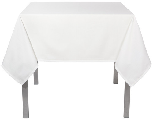 "Now Designs - Renew White 55"" x 55"" Wrinkle Resistant Tablecloth - 1901545"