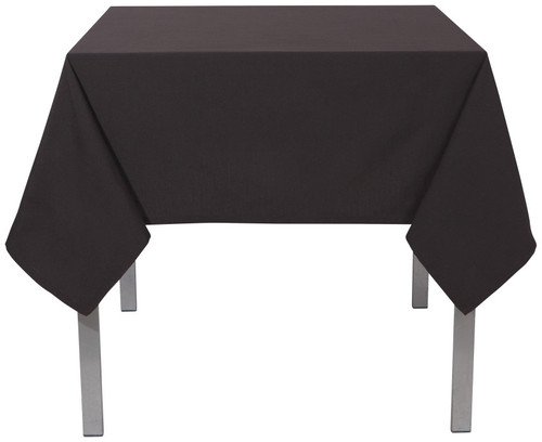 "Now Designs - Renew Black 55"" x 55"" Wrinkle Resistant Tablecloth - 1901500"