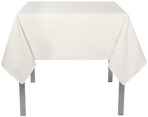 "Now Designs - Renew Ivory 60"" x 90"" Wrinkle Resistant Tablecloth - 1902555"