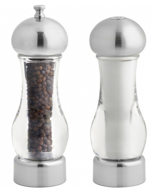 "Trudeau - 7.5"" Brio Peppermill & Salt Shaker - 0535050"