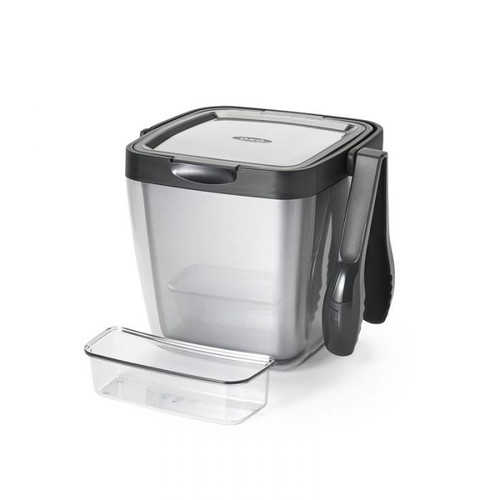 OXO - Double Wall Ice Bucket With Tongs & Garnish Tray - 9144