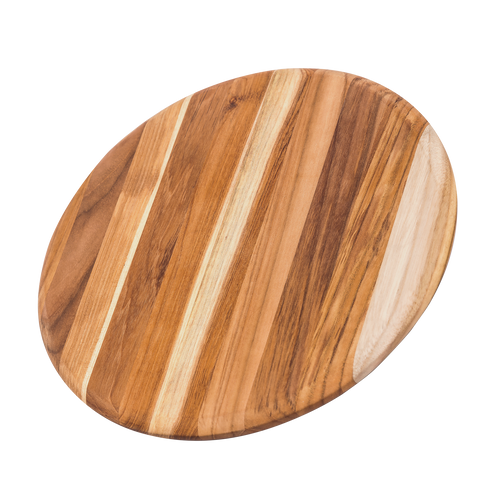 "Pro Teak - 13"" Edge Grain Round Cutting / Serving Board - 209"