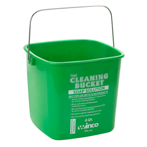 Winco - The Cleaning Bucket 6 Qt. - PPL6G