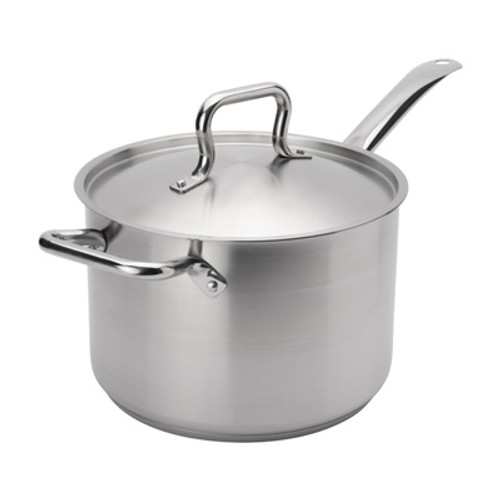 """Browne - Elements 7.6 Qt (9.4"""") Stainless Steel Sauce Pan  - 5734037"""