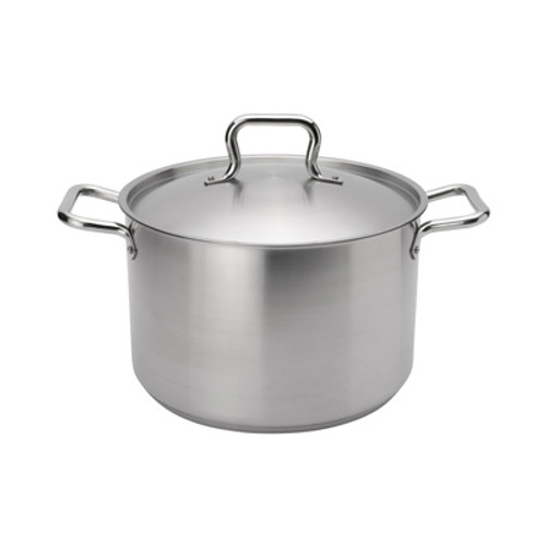 "Browne - Elements 8 Qt (9.4"") Stainless Steel Stock Pot  - 5733908"