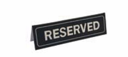 """Johnson-Rose - """"Reserved"""" Table Sign 2""""X7"""" - 80050"""