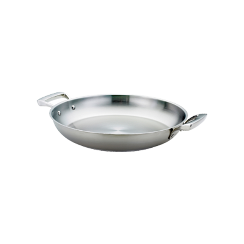 "Thermalloy -9.5"" Stainless Steel Paella Pan  - 5724171"