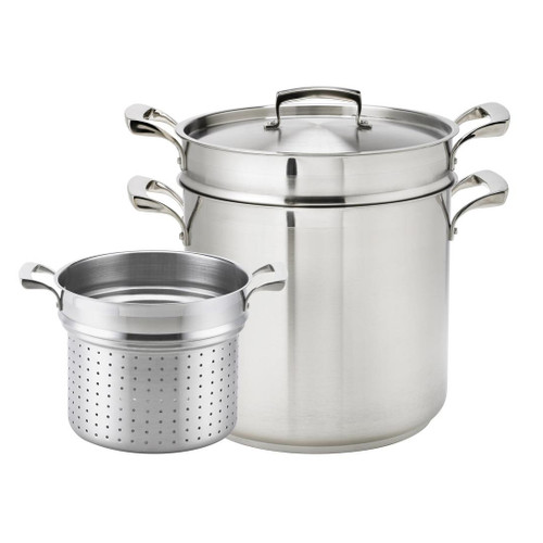 Thermalloy -12 Qt Stainless Steel Pasta Cooker Set - 5724082