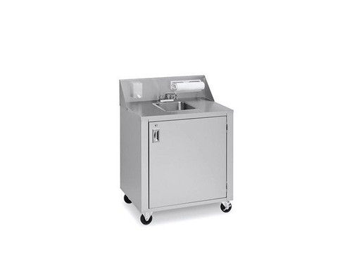 Crown Verity - Stainless Steel Three Compartment Cold Water Portable Sink - CV-PHS-3C
