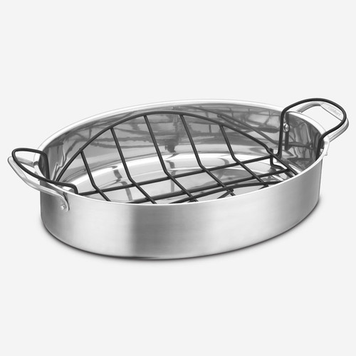 "Cuisinart - 17"" Roasting Pan With Non-Stick Rack"
