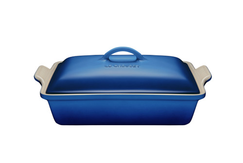 Le Creuset - 3.8 L Blueberry Rectangular Casserole With Lid
