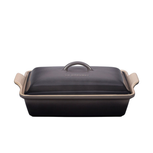 Le Creuset - 3.8 L Oyster Rectangular Casserole With Lid
